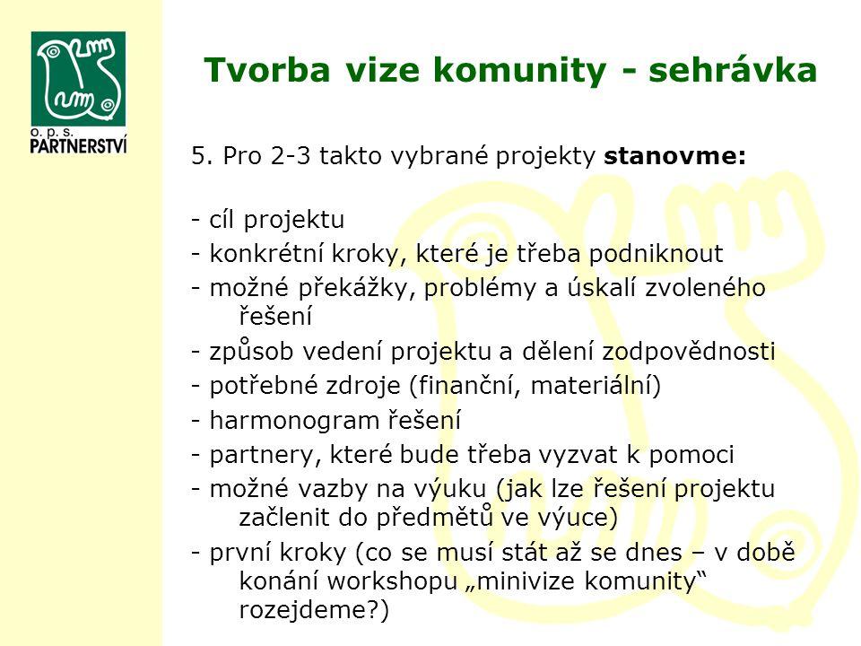 Tvorba vize komunity - sehrávka