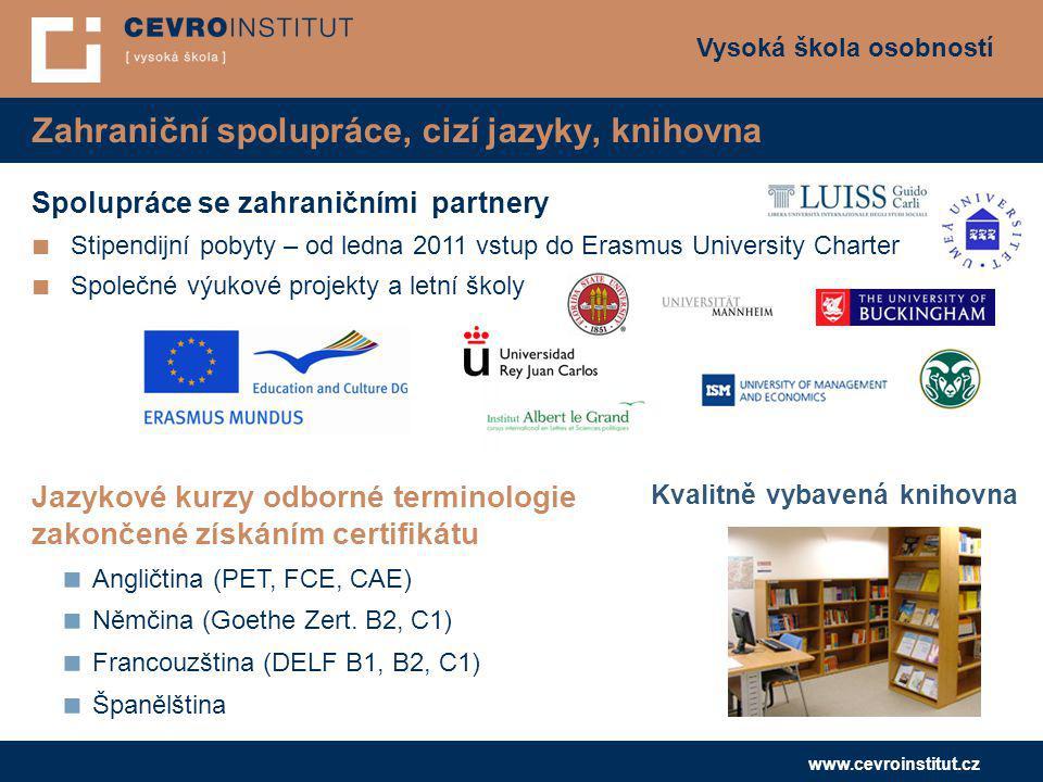 Zahraniční spolupráce, cizí jazyky, knihovna