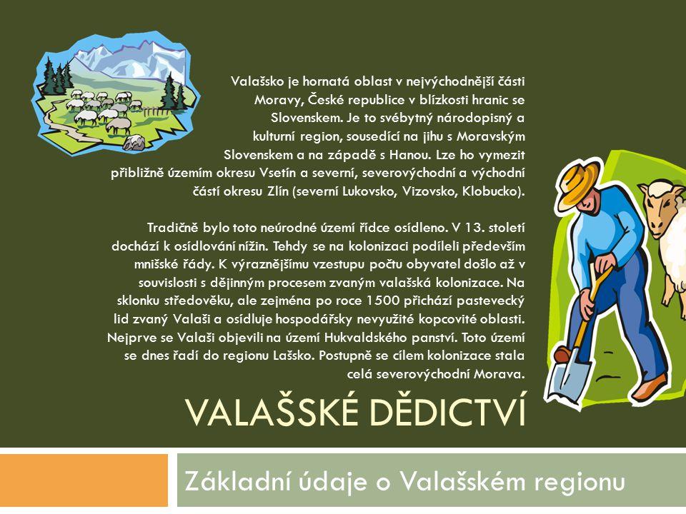 Základní údaje o Valašském regionu