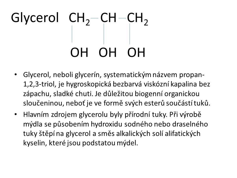 Glycerol CH2 CH CH2 OH OH OH
