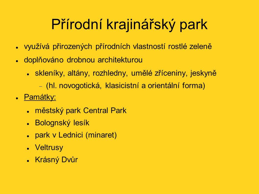 Přírodní krajinářský park