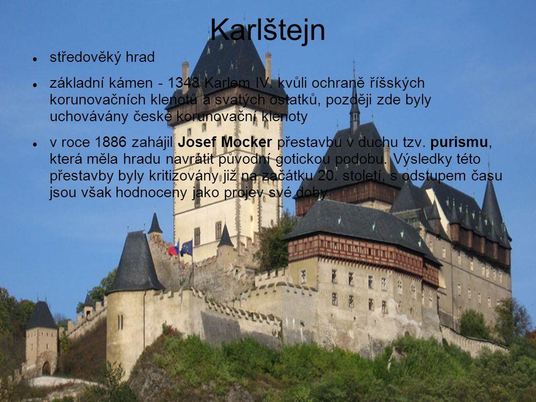 Karlštejn středověký hrad