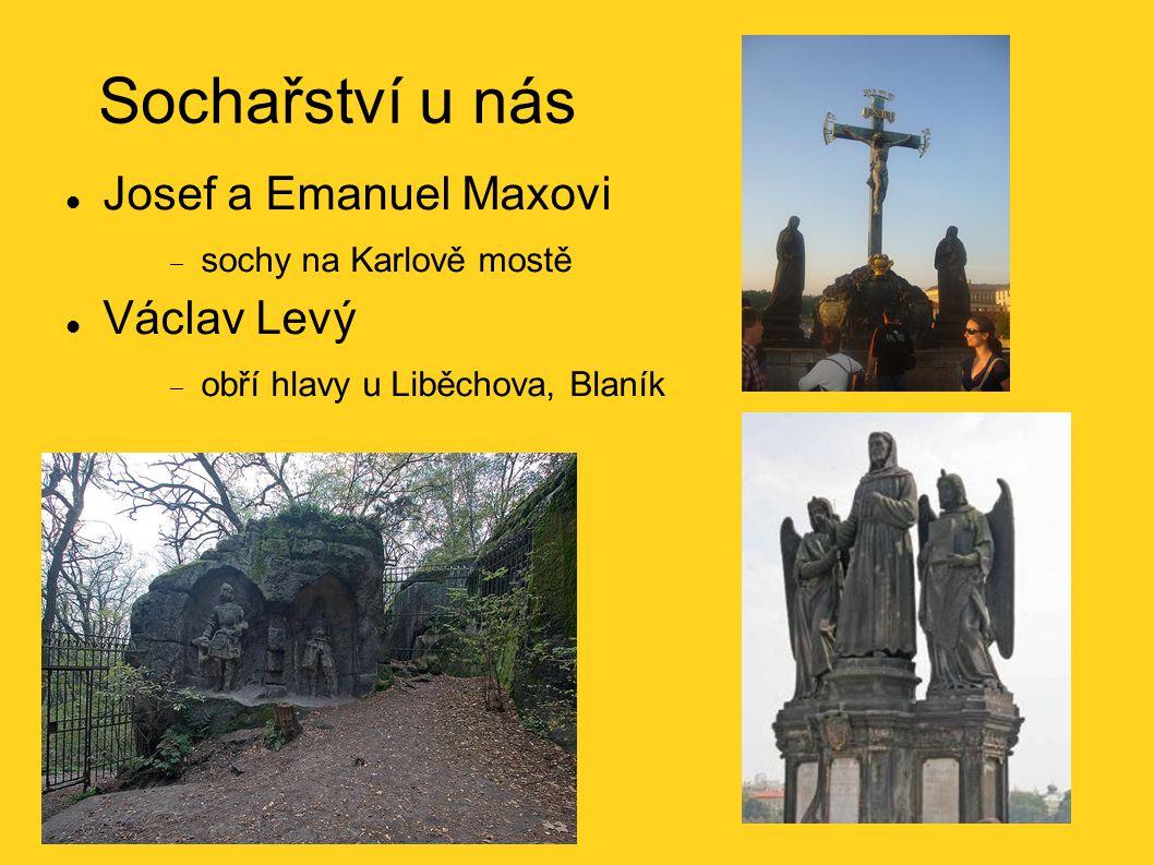 Sochařství u nás Josef a Emanuel Maxovi Václav Levý