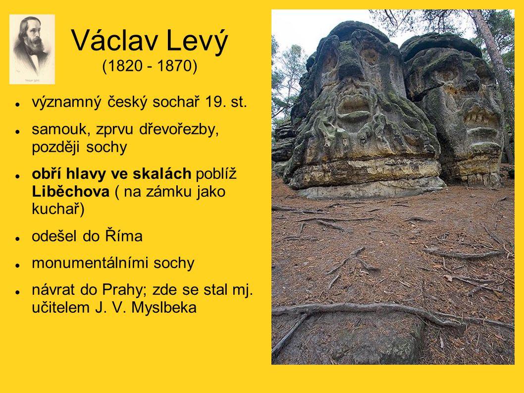 Václav Levý (1820 - 1870) významný český sochař 19. st.