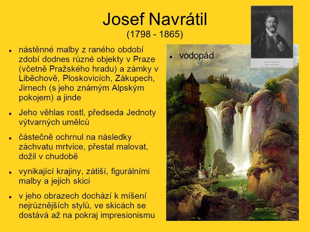 Josef Navrátil (1798 - 1865) vodopád