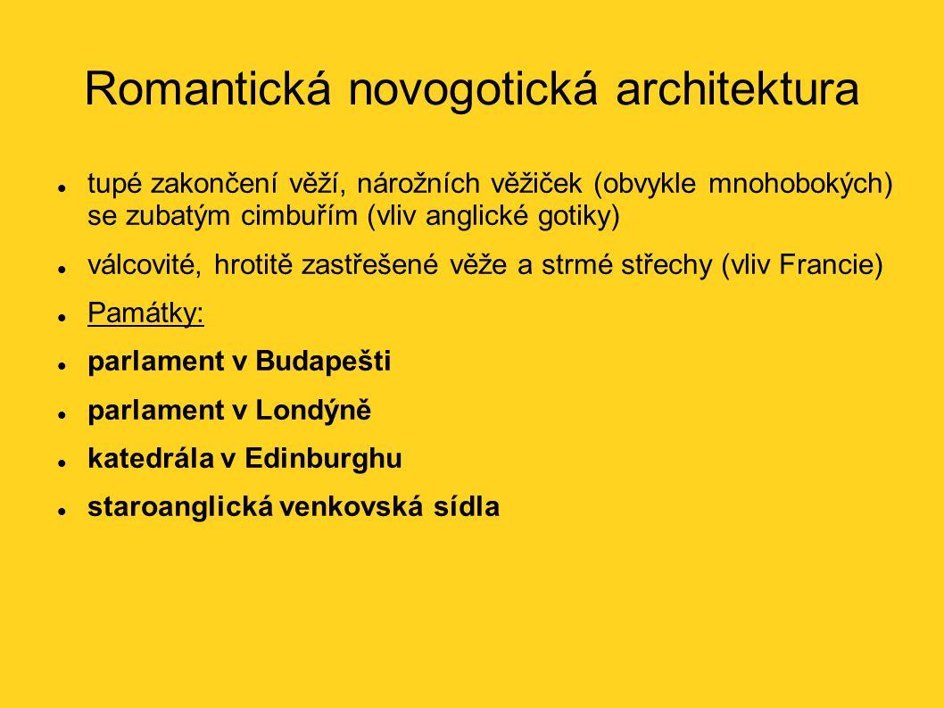 Romantická novogotická architektura