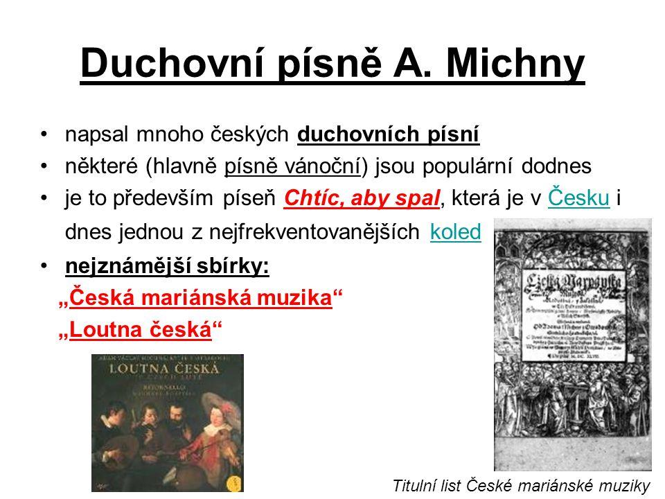 Duchovní písně A. Michny
