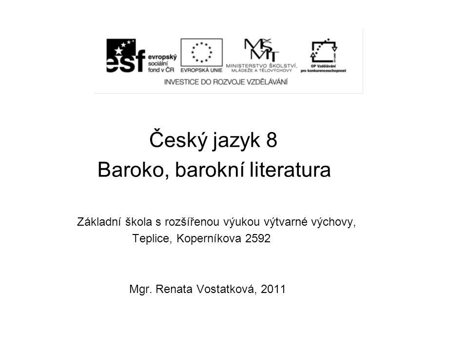 Baroko, barokní literatura