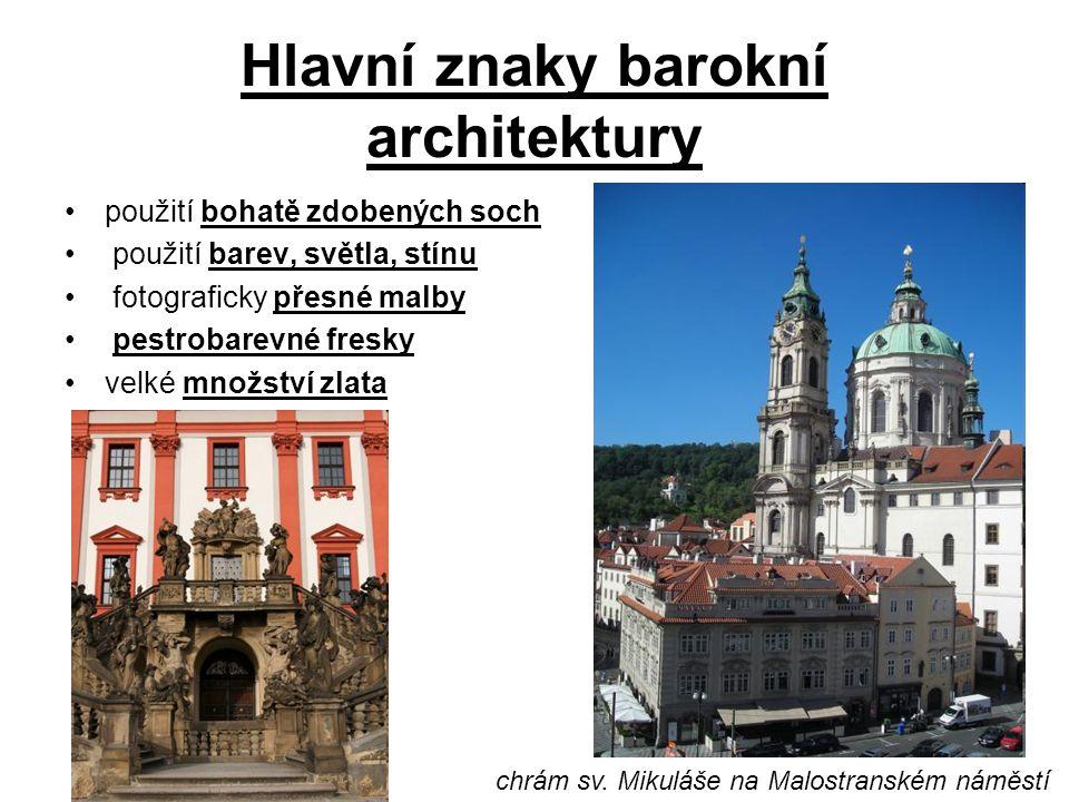 Hlavní znaky barokní architektury