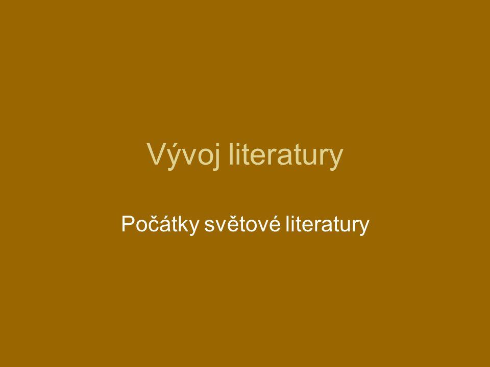 Počátky světové literatury