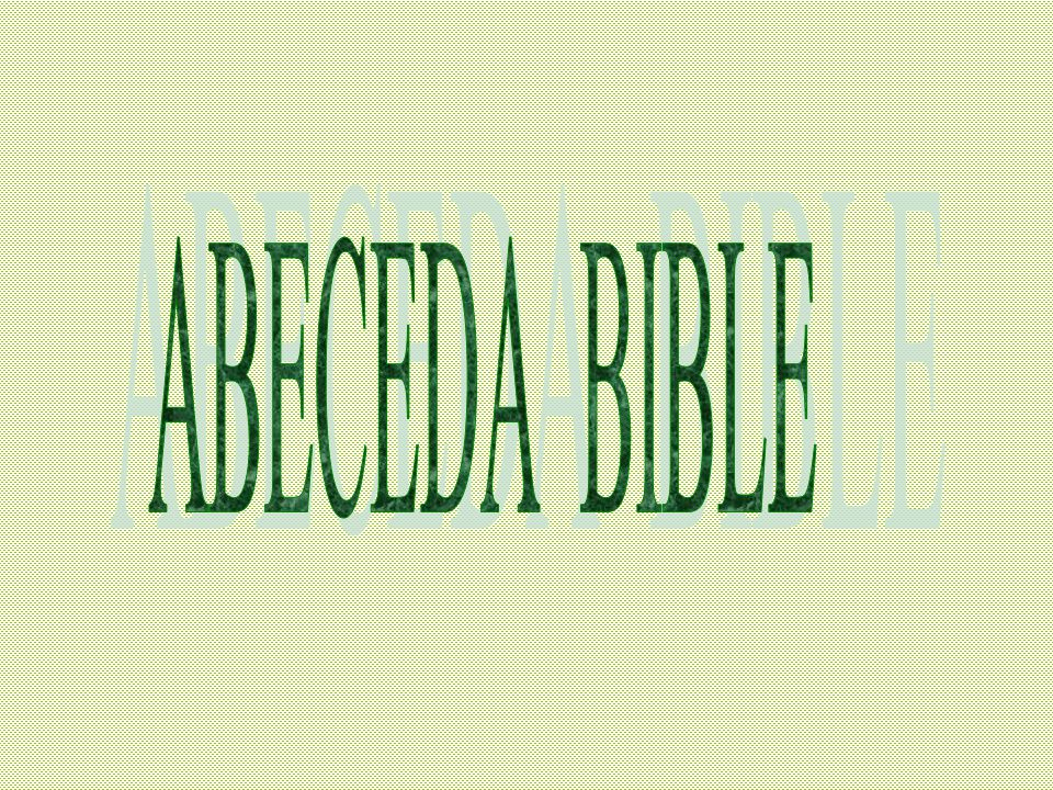 ABECEDA BIBLE