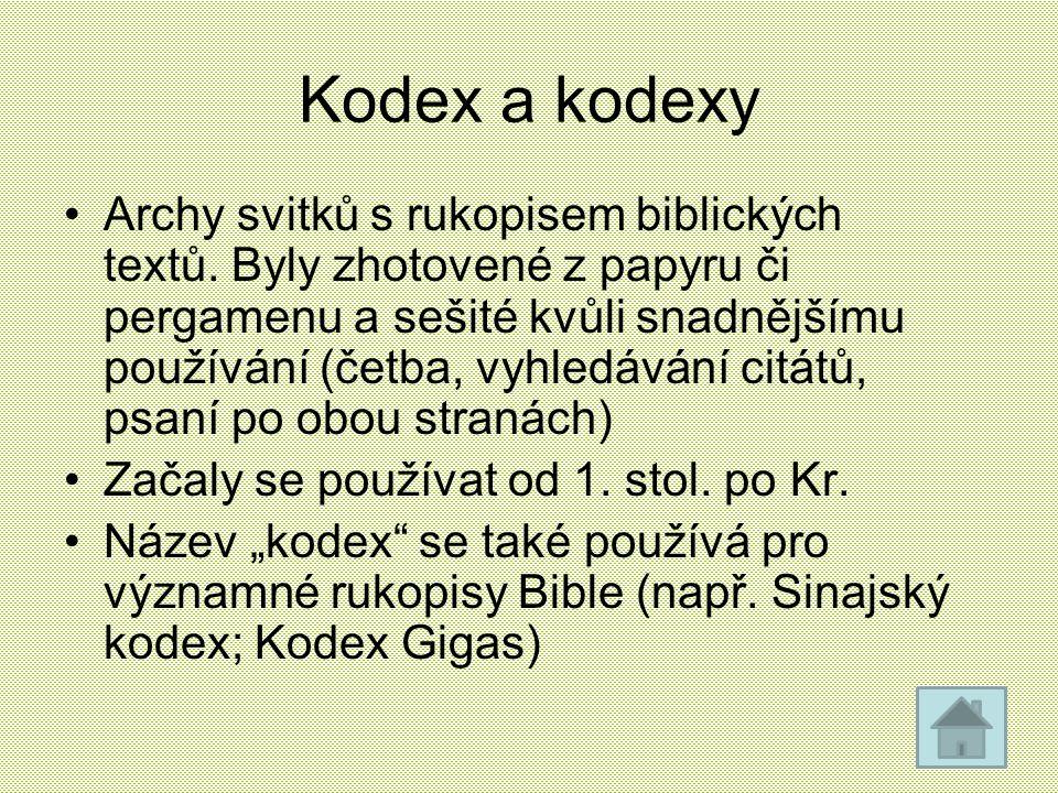 Kodex a kodexy