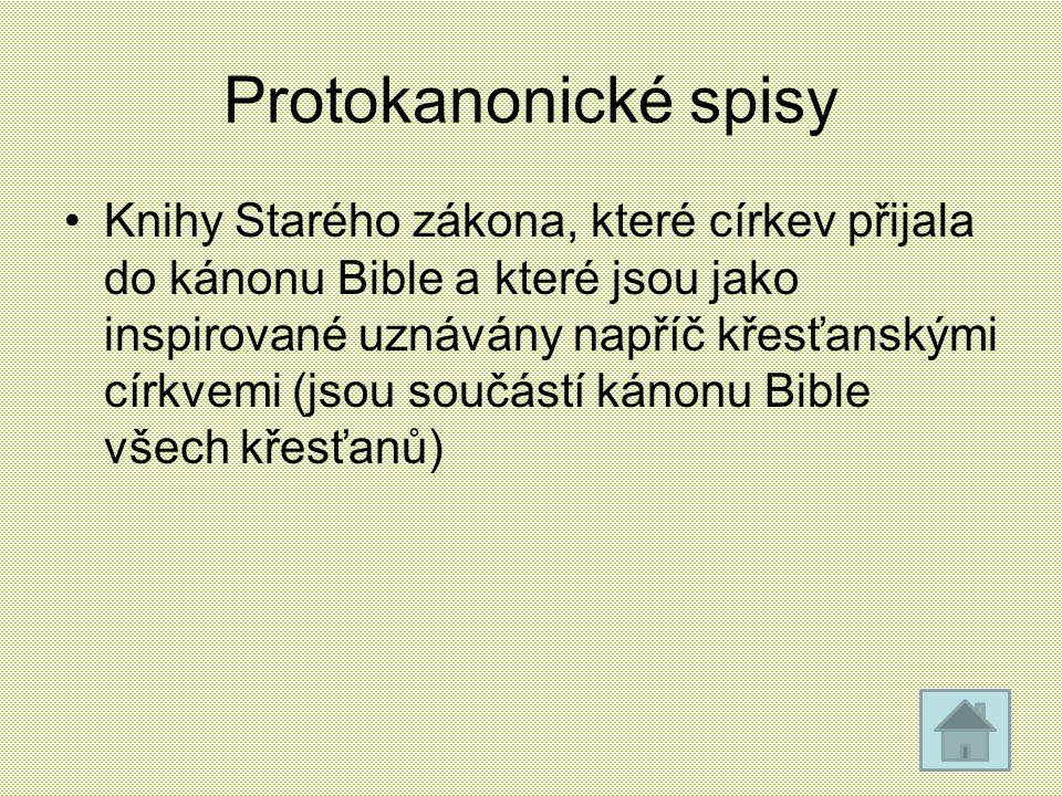 Protokanonické spisy