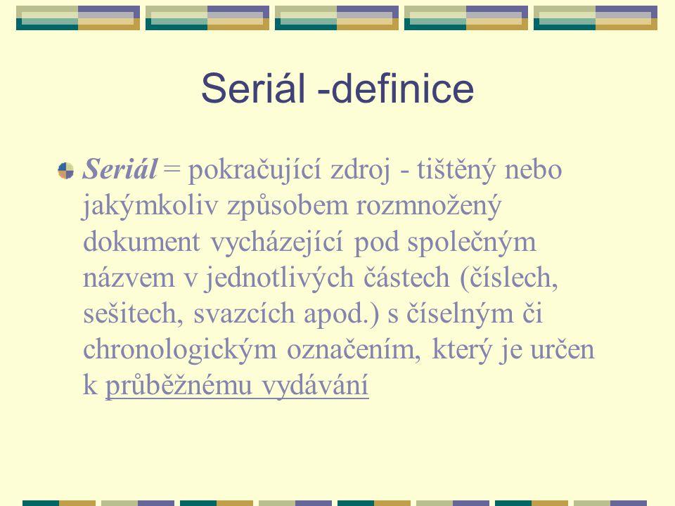 Seriál -definice