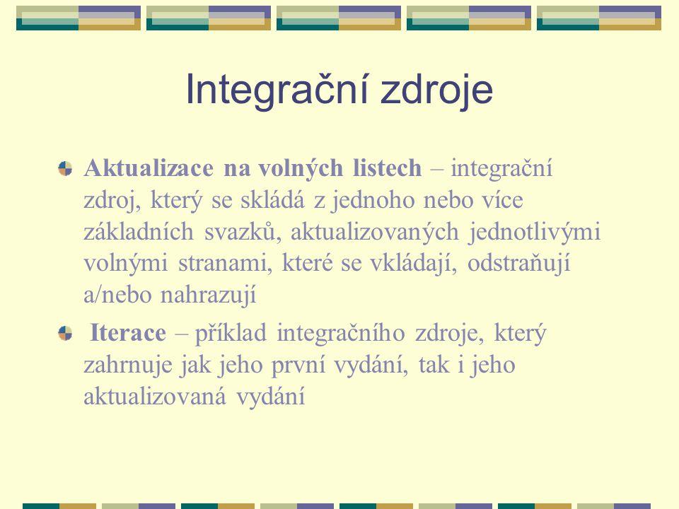 Integrační zdroje