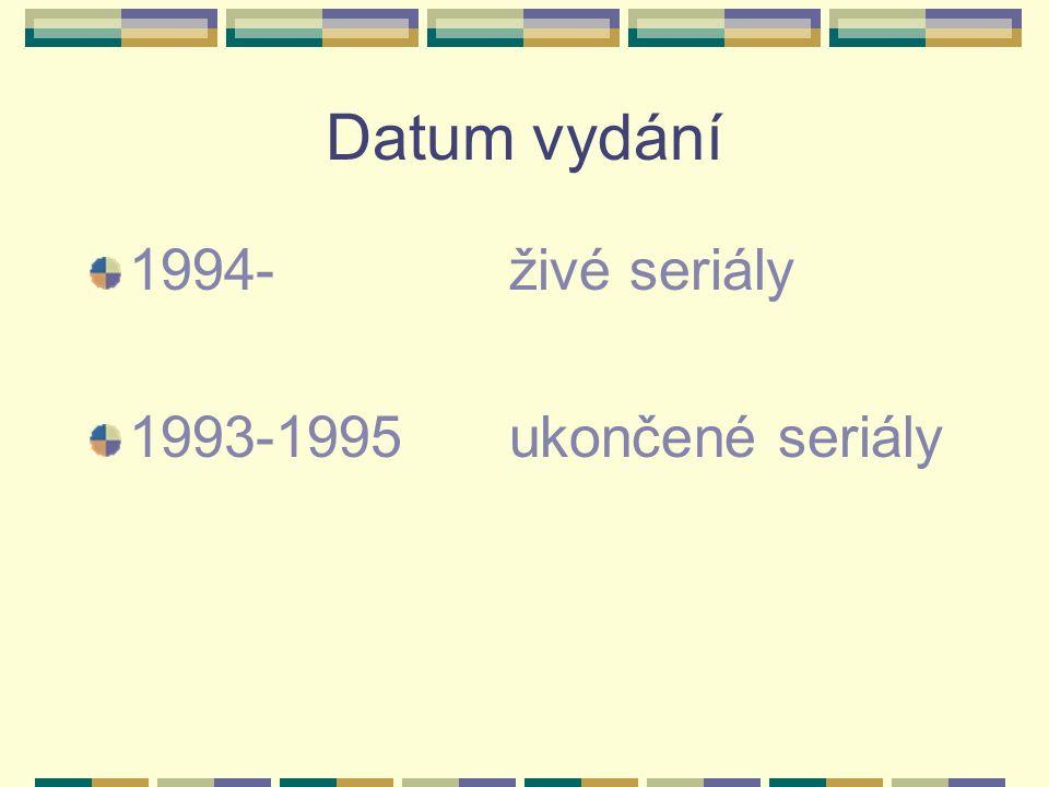 Datum vydání 1994- živé seriály 1993-1995 ukončené seriály