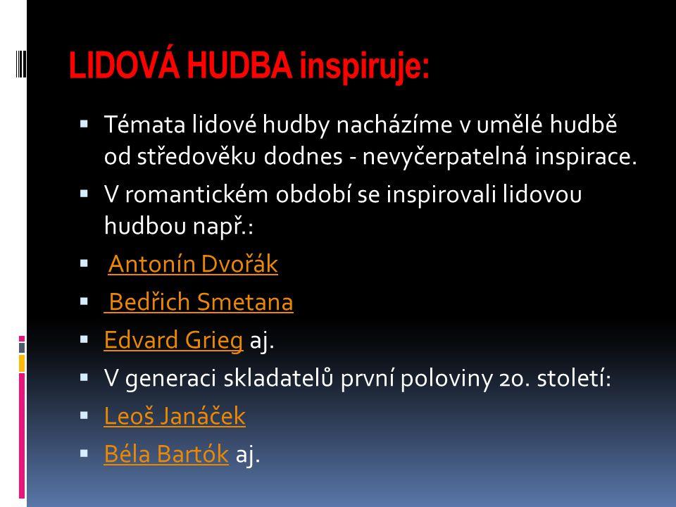 LIDOVÁ HUDBA inspiruje: