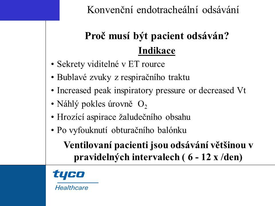 Konvenční endotracheální odsávání