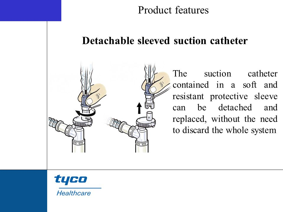 Detachable sleeved suction catheter