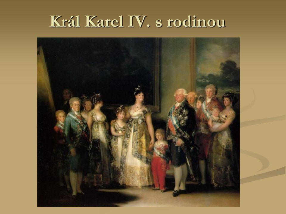 Král Karel IV. s rodinou