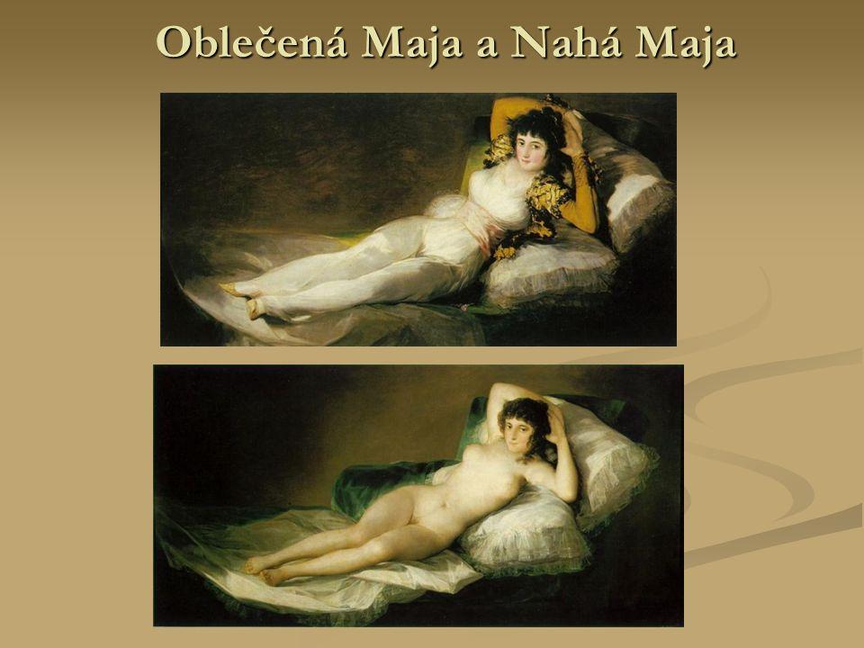 Oblečená Maja a Nahá Maja