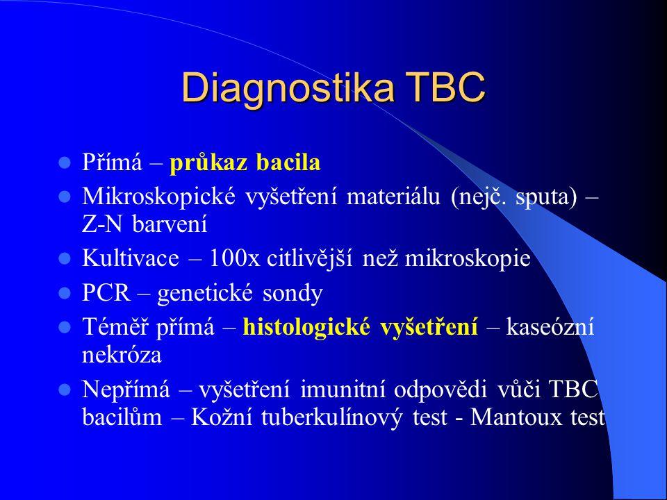 Diagnostika TBC Přímá – průkaz bacila