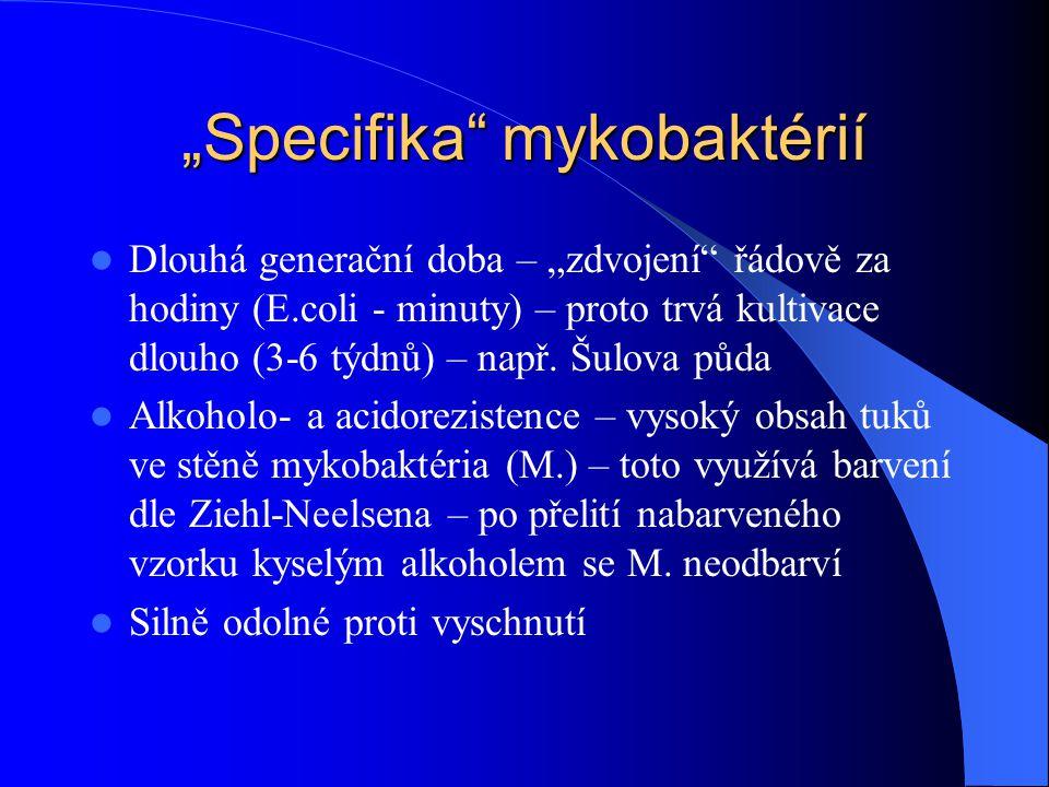 """""""Specifika mykobaktérií"""