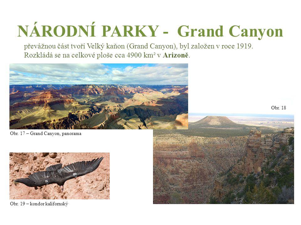 NÁRODNÍ PARKY - Grand Canyon