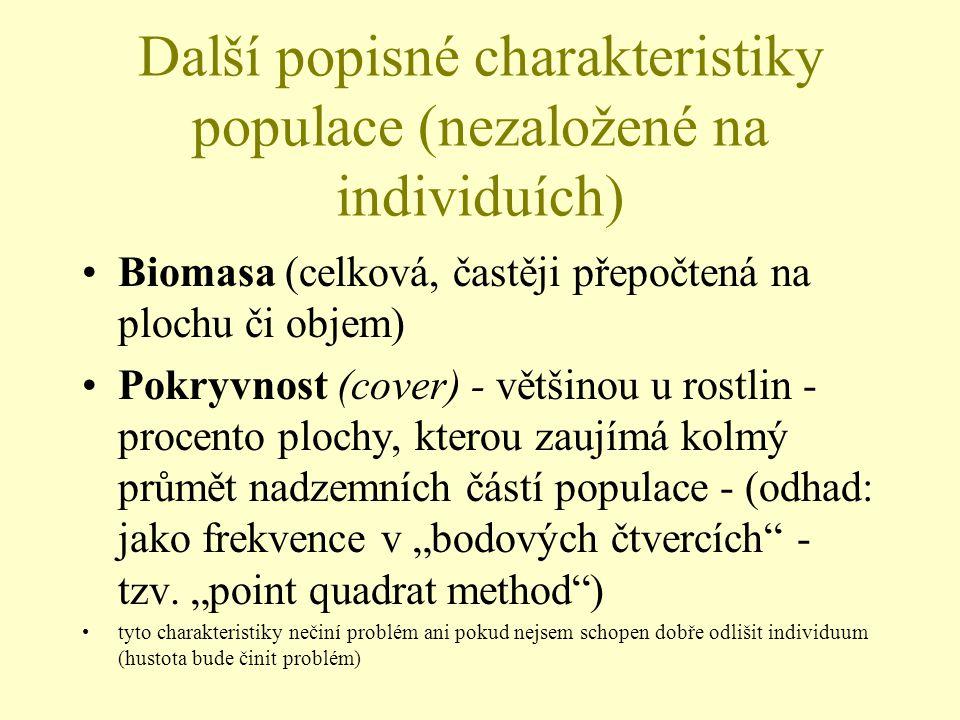 Další popisné charakteristiky populace (nezaložené na individuích)