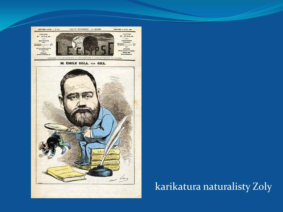 karikatura naturalisty Zoly