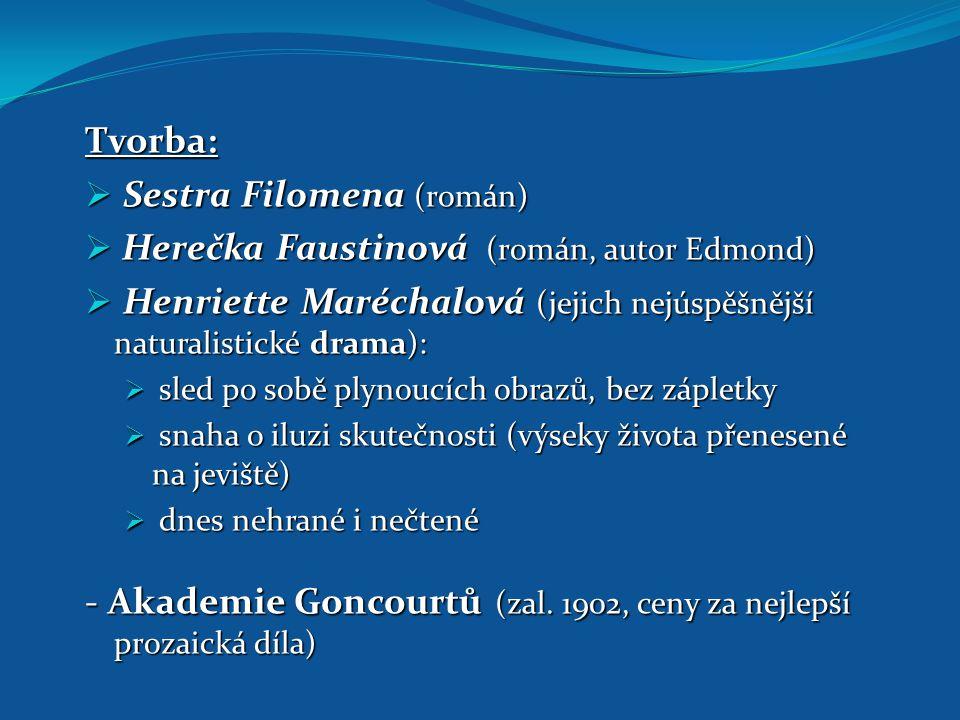 Sestra Filomena (román) Herečka Faustinová (román, autor Edmond)
