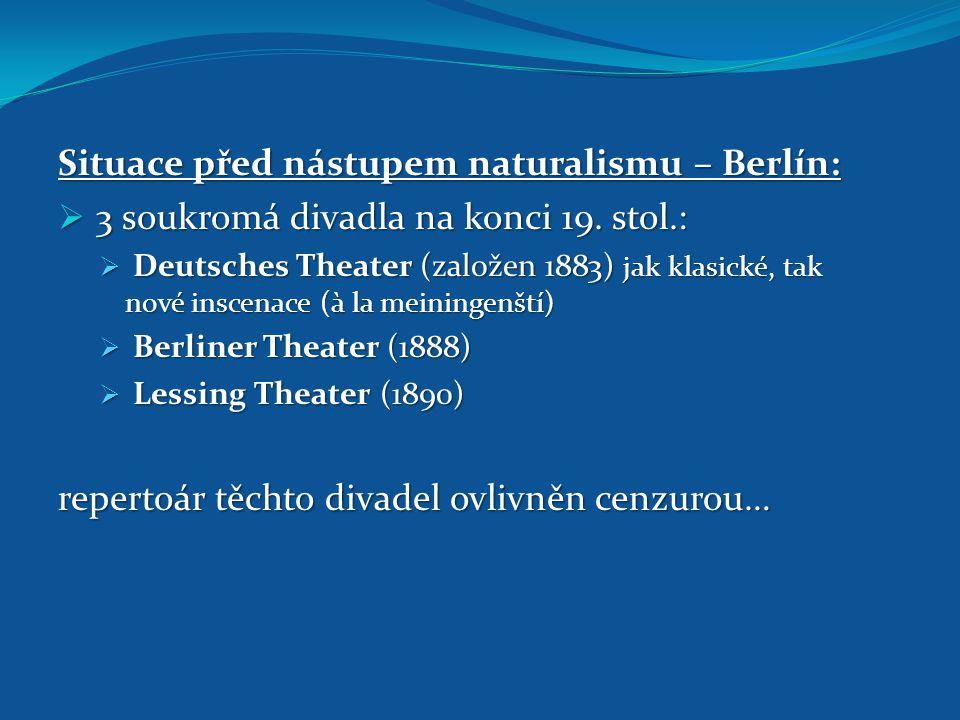 Situace před nástupem naturalismu – Berlín:
