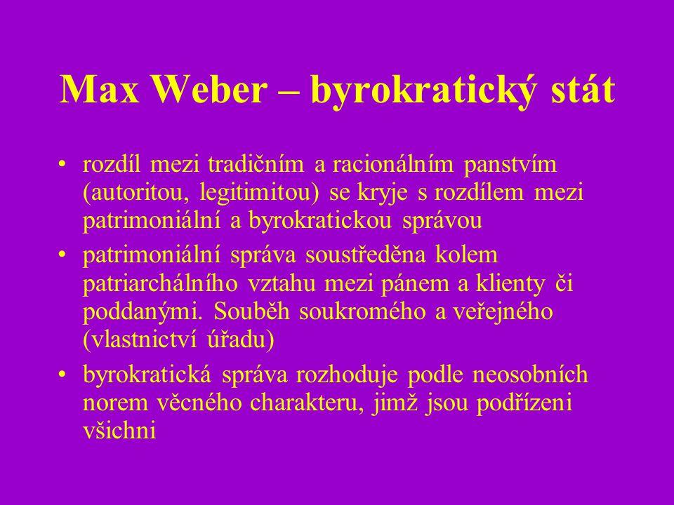 Max Weber – byrokratický stát
