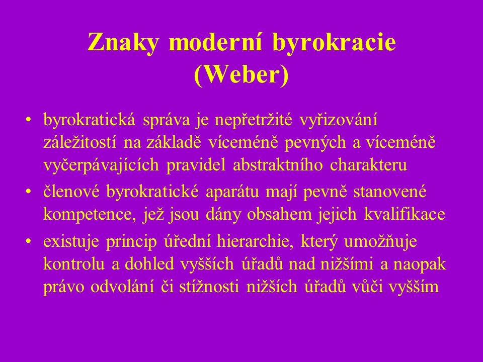 Znaky moderní byrokracie (Weber)