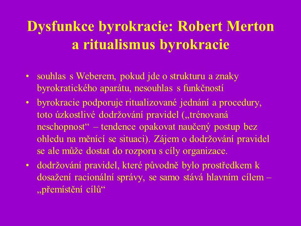 Dysfunkce byrokracie: Robert Merton a ritualismus byrokracie