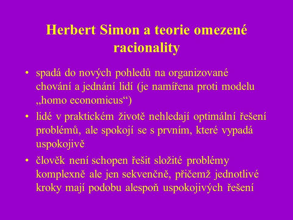 Herbert Simon a teorie omezené racionality