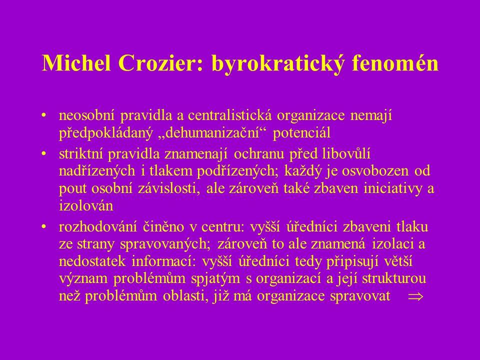 Michel Crozier: byrokratický fenomén