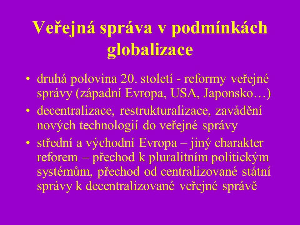Veřejná správa v podmínkách globalizace