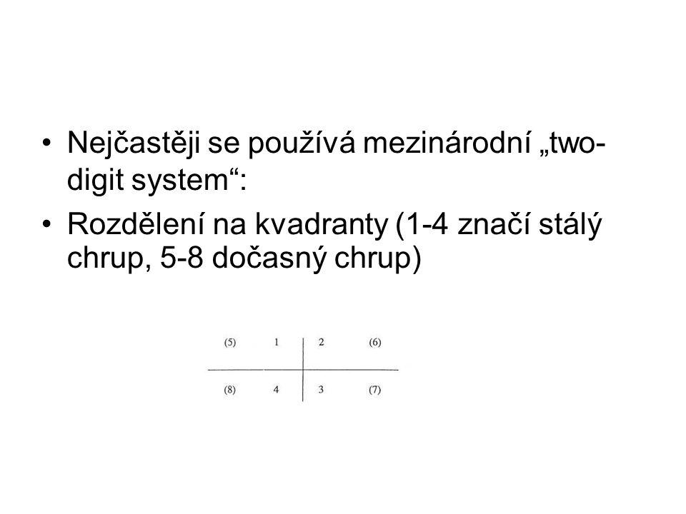 """Nejčastěji se používá mezinárodní """"two- digit system :"""