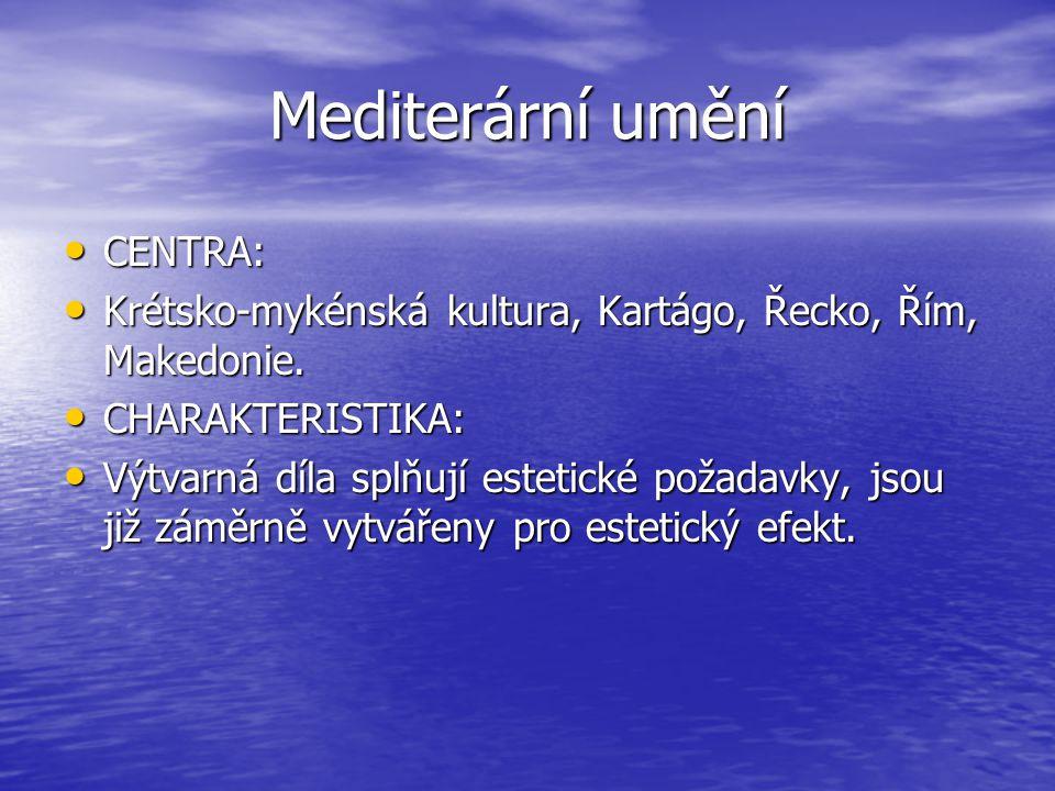 Mediterární umění CENTRA: