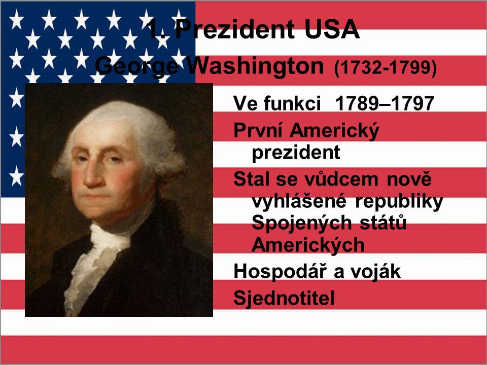 1. Prezident USA George Washington (1732-1799)
