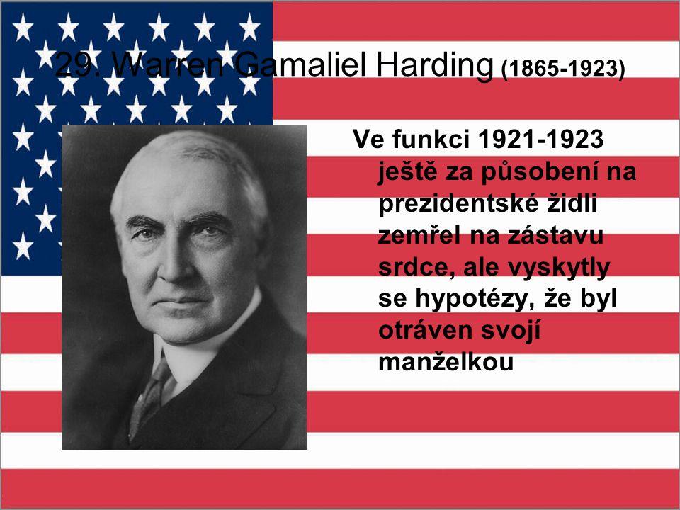 29. Warren Gamaliel Harding (1865-1923)