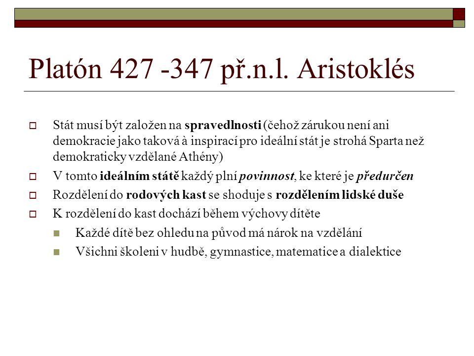 Platón 427 -347 př.n.l. Aristoklés