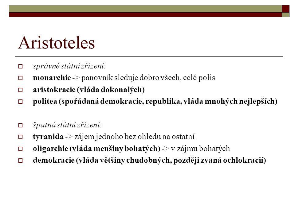 Aristoteles správné státní zřízení: