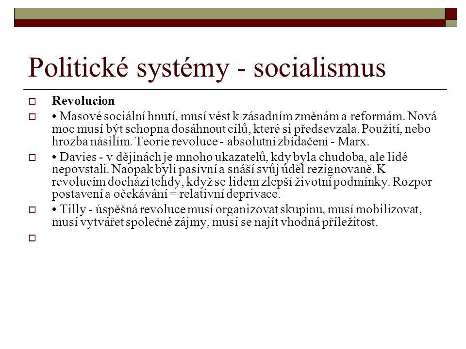 Politické systémy - socialismus