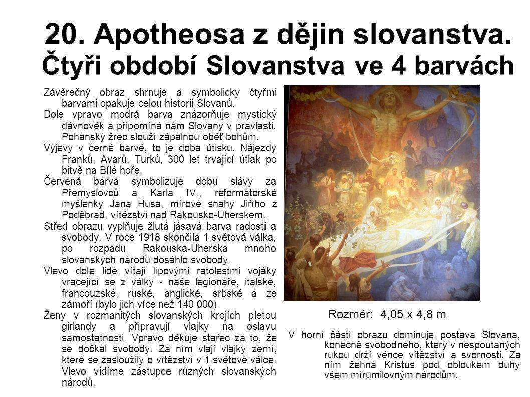 20. Apotheosa z dějin slovanstva. Čtyři období Slovanstva ve 4 barvách