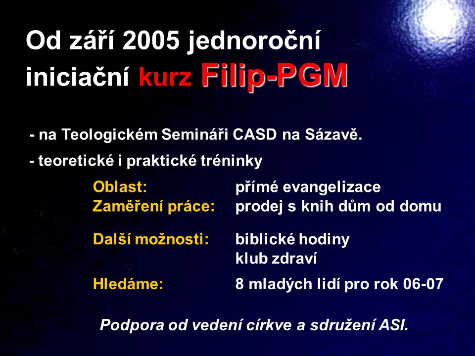 iniciační kurz Filip-PGM