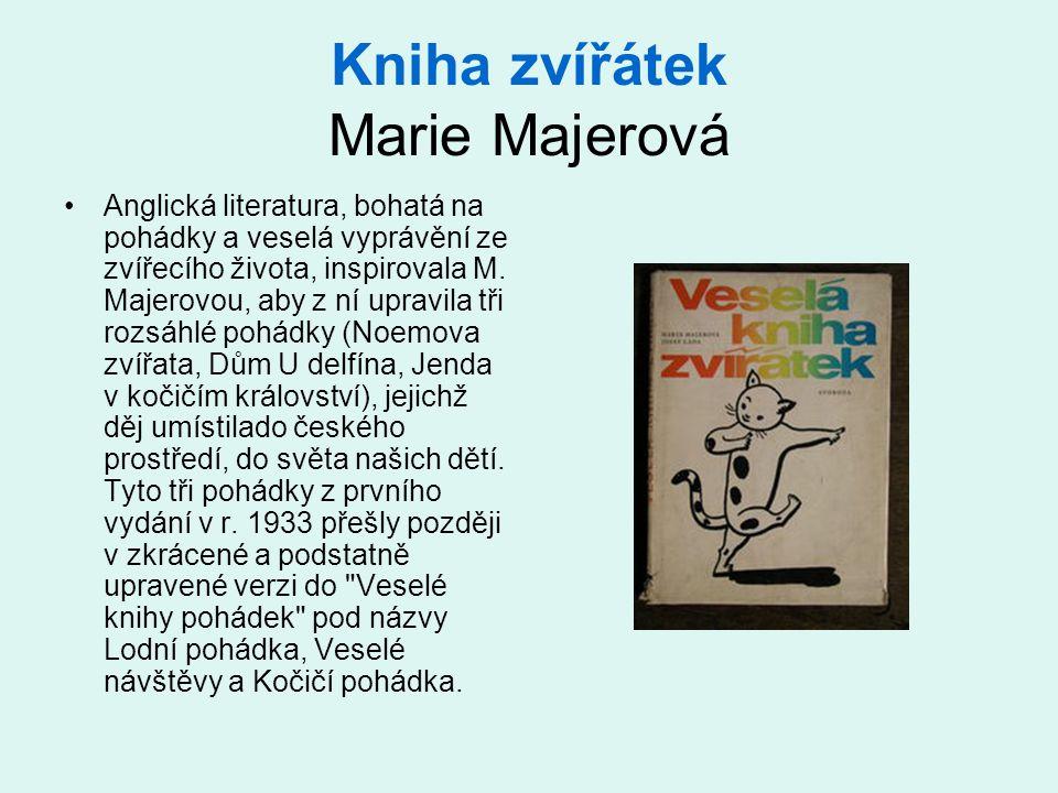 Kniha zvířátek Marie Majerová