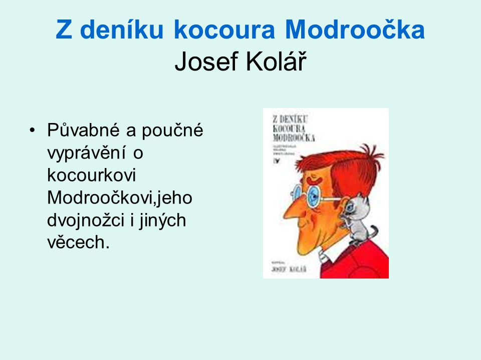Z deníku kocoura Modroočka Josef Kolář