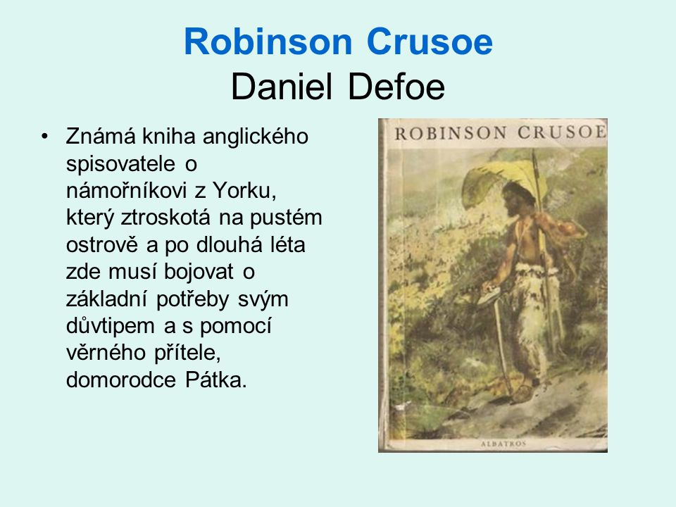 Robinson Crusoe Daniel Defoe